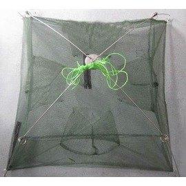 【加固型捕魚籠-4進口100cm-100*100cm-2套/組】加固型密眼網 捕魚網 捕蝦網 地籠 魚籠 蝦籠-76029