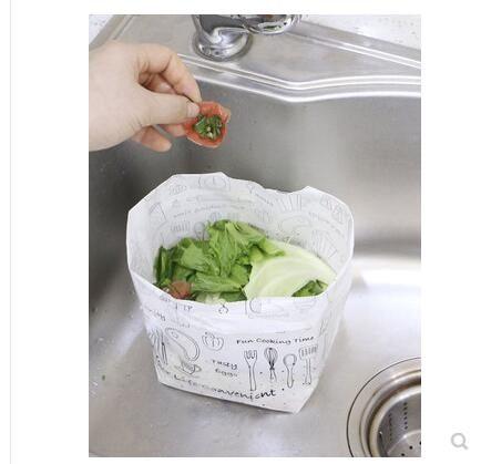日本廚房水槽自立式瀝水垃圾袋隔水袋 排水口剩飯菜渣過濾水切袋 愛麗絲
