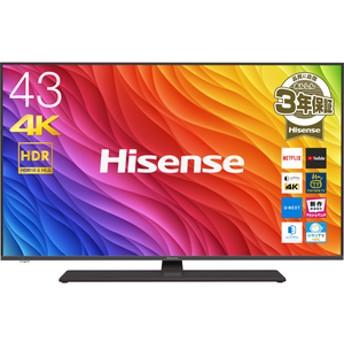 ハイセンス43V型4Kチューナー内蔵液晶テレビ43A6800