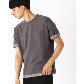[マルイ] 異素材コンビ ビッグTシャツ/コムサイズムメンズ(COMME CA ISM)