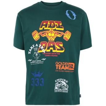 《期間限定セール開催中!》ADIDAS ORIGINALS メンズ T シャツ グリーン S コットン 100% TESTPRINTTEE