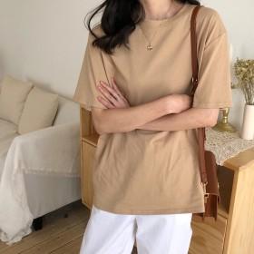 Tシャツ - G & L Style レディース 半袖 トップス カットソー シンプル カジュアル ロゴプリントシンプル半袖Tシャツ 6425