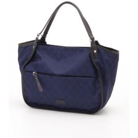 57%OFF Y'SACCS(bag) (イザック(バック)) モノグラムジャカードシリーズトートバッグ ネイビー