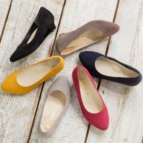 ベルーナ 幅広ゆったりアーモンドトゥウェッジパンプス ボルドー 22.5cm レディースパンプス ヒール 春 夏 靴 レディース 通販 大きいサイズ コーデ 安い おしゃれ お洒落 30代 40代 50代 女性