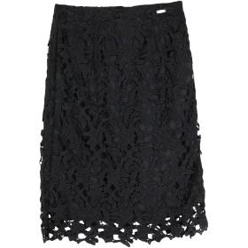 《期間限定 セール開催中》GUESS レディース ひざ丈スカート ブラック 26 ポリエステル 100%