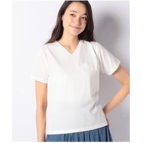 koe VネックTシャツ(ホワイト)【返品不可商品】