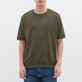 (GU)スウェットシャツ(半袖) OLIVE XS