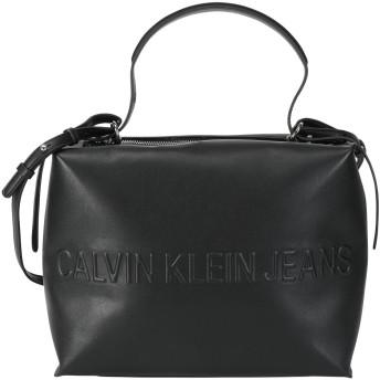 《期間限定セール開催中!》CALVIN KLEIN JEANS レディース メッセンジャーバッグ ブラック ポリウレタン 100% BOX SATCHEL