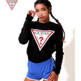 ANAP(アナップ)GUESS L/SLV TRIANGLE LOGO TEE SHIRT