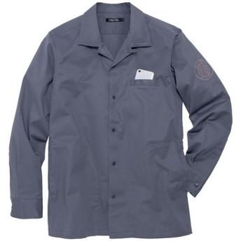 18%OFF【メンズ】 ストレッチ・ツイルシャツジャケット ■カラー:グレー ■サイズ:M,L,LL,3L,5L