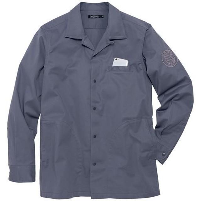 20%OFF【メンズ】 ストレッチ・ツイルシャツジャケット ■カラー:グレー ■サイズ:M,L,LL,3L,5L