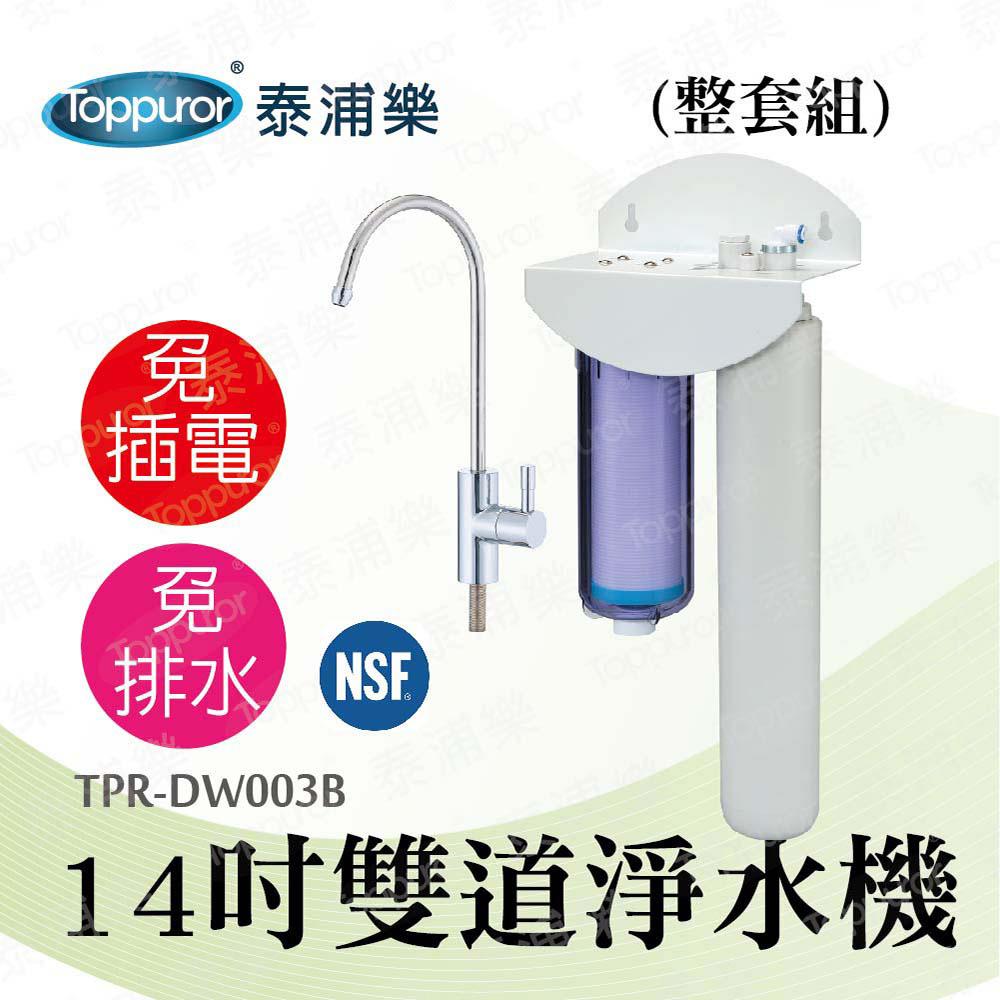 Toppuror 泰浦樂 14吋雙道生飲淨水機-整套組 TPR-DW003B