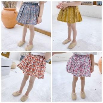 2019夏 スカート チュールスカート 女児 女の子 子ども服 キッズ 韓国子供服 花柄 可愛い 5色