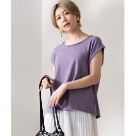 WEGO WEGO/USAコットンノースリーブTシャツ(パープル)【返品不可商品】