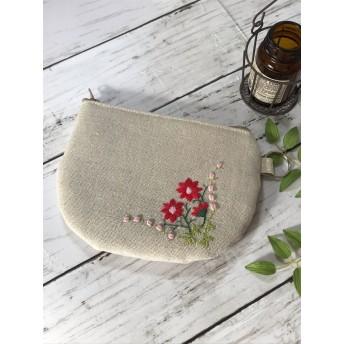 刺繍ポーチ お花