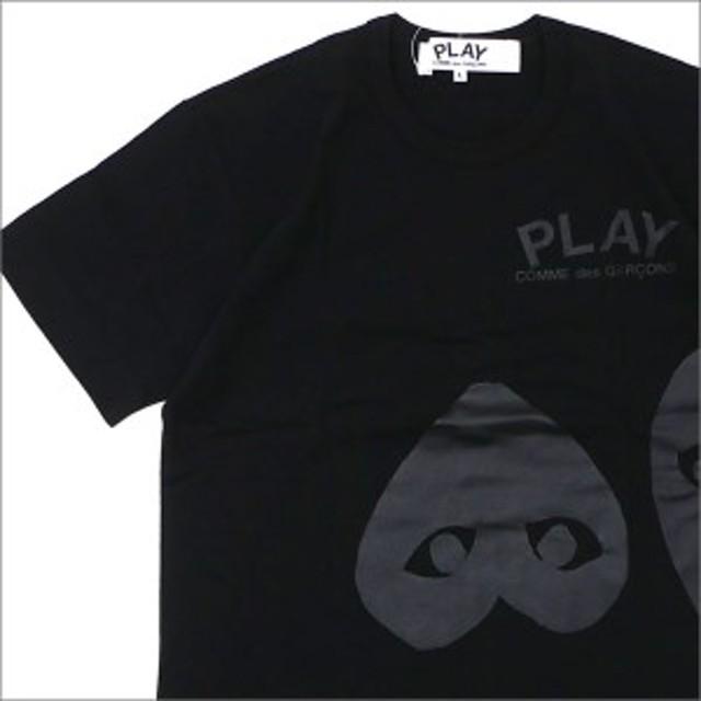 (新品)PLAY COMME des GARCONS(プレイ コムデギャルソン) MEN'S THREE HEART TEE BLACK 200-007760-051x(半袖Tシャツ)