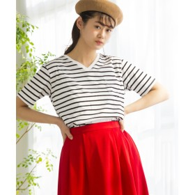 WEGO WEGO/デイリーVネックTシャツ(ホワイト系)【返品不可商品】