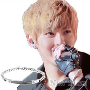 EXO Kris 吳亦凡 同款銀光平板手鏈手環 可當男女對鍊 (單條價)