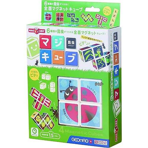 《日本 EyeUp》益智 六面磁力拼圖(昆蟲) 東喬精品百貨