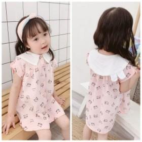 ワンピース 可愛い 女の子 シャツワンピース  韓国 ジュニア 人気  ゆとり 袖なし おしゃれ 人気 ピンク