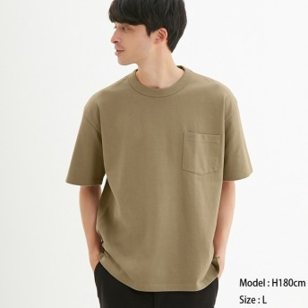(GU)ヘビーウェイトビッグT(半袖) BEIGE M
