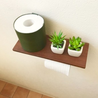 ★カフェのようなトイレを演出♪トイレットペーパー ホルダー【グリーン】(受注生産品)