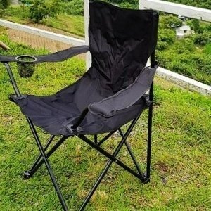 美麗大街【107051632】黑色休閒露營便攜型摺疊露營椅