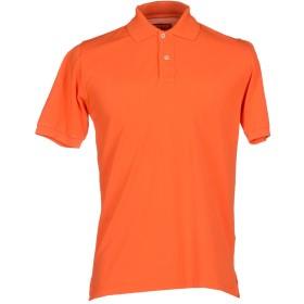 《期間限定 セール開催中》FEDELI メンズ ポロシャツ オレンジ 48 コットン 100%
