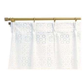 北欧風デザイン レースカーテン2枚組 100×228サイズ