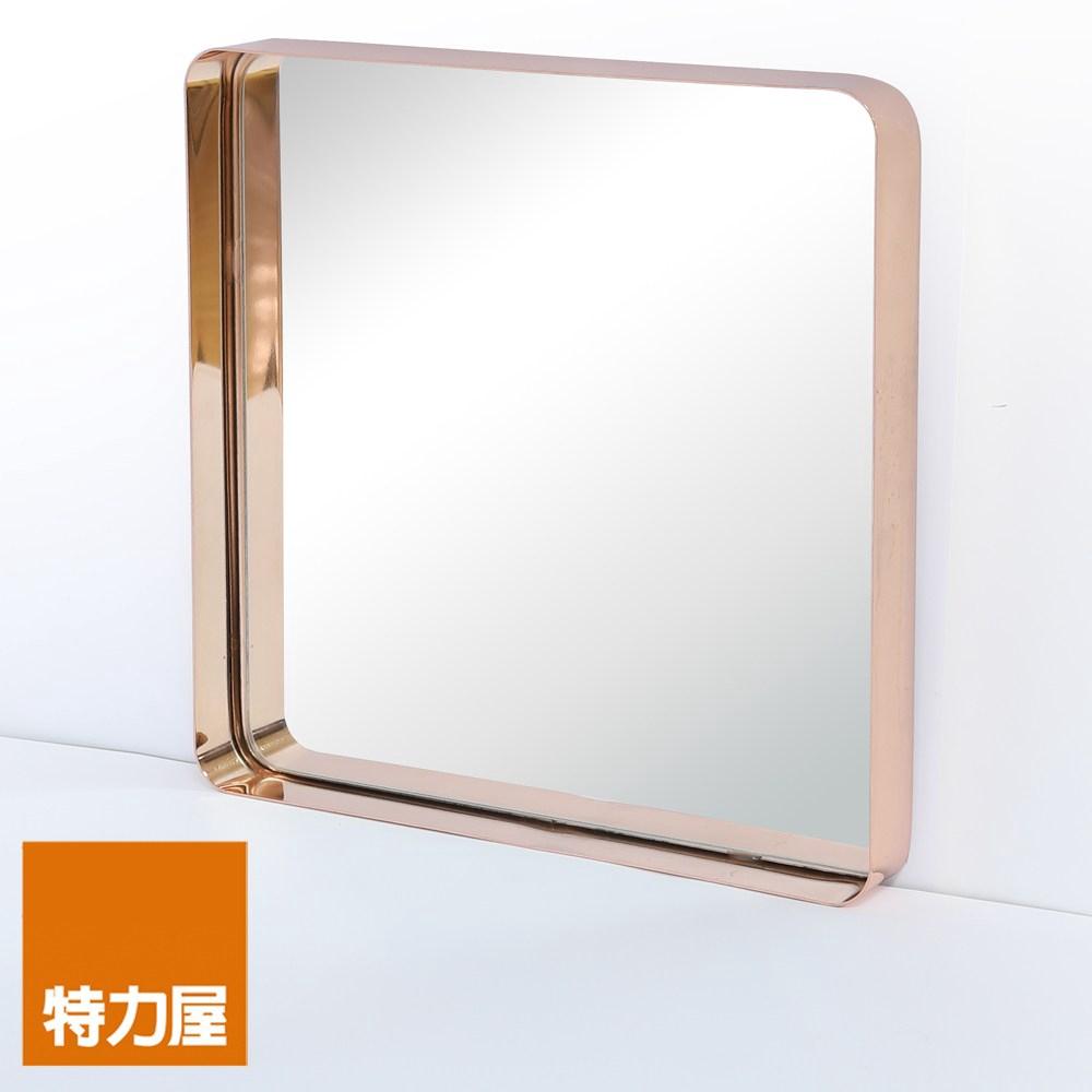 特力屋 摩登框鏡 方形 45x45cm 玫瑰金 FMW-17CS-RG