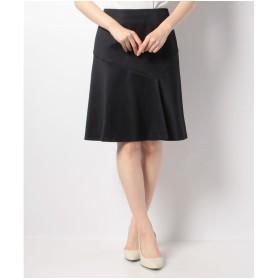 ELISA ウールサテンストレッチ スカート(ネイビー)【返品不可商品】