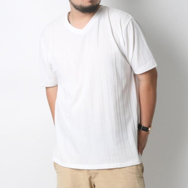 Tシャツ - MARUKAWA Tシャツ 大きいサイズ メンズ 夏 Vネック 無地 半袖 ホワイト/ブラック/ネイビー 2L/3L/4L/5L【ティーシャツ きれいめカジュアル シンプル】