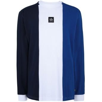 《期間限定セール開催中!》ADIDAS ORIGINALS メンズ T シャツ ブルー S コットン 100% TRIPART TEE