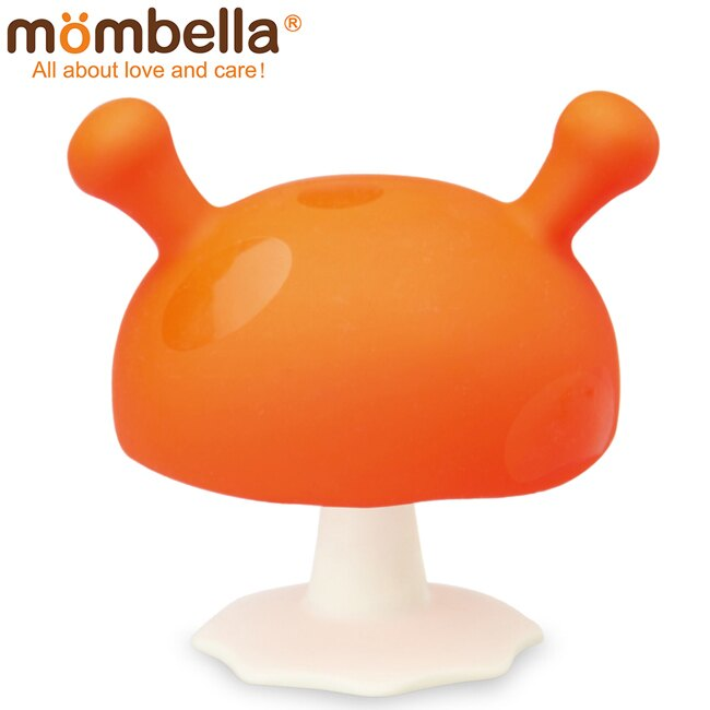 英國 Mombella Q比小蘑菇固齒器(橘色)