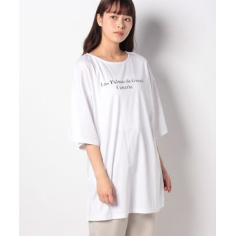 (PROFILE/プロフィール)ビッグシルエット・ロゴTシャツ/レディース OFF 送料無料