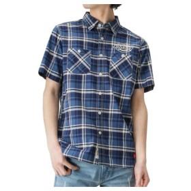 (MAC HOUSE/マックハウス)Dickies ワークシャツ 9270-1401/メンズ ブルー