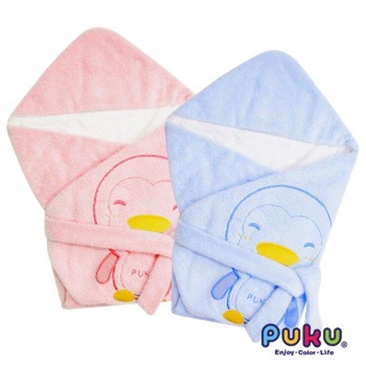 PUKU藍色企鵝秋冬暖暖包巾尺寸F(水/粉)