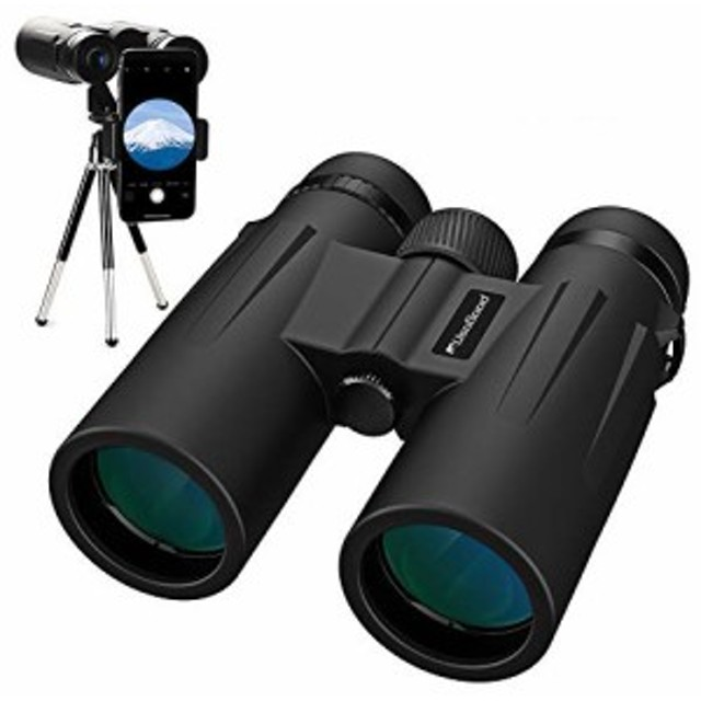 【Bak4レンズ 高倍率】双眼鏡 望遠鏡 12倍×50mm 5.6°広視野 高解像度 高透過率 日本人に合わせた設計 めがね対応 ピント合わせやすい