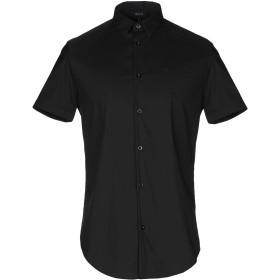 《9/20まで! 限定セール開催中》ARMANI JEANS メンズ シャツ ブラック XS コットン 76% / ナイロン 21% / ポリウレタン 3%