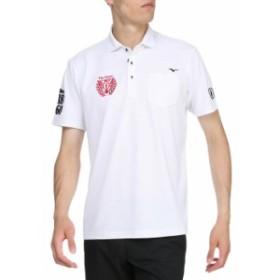 メール便対応 ミズノ ゴルフ ドライエアロフロー半袖シャツ シャツ衿 メンズ 52MA910601