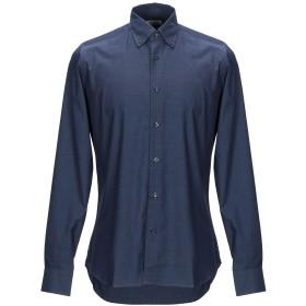 《期間限定 セール開催中》ALEA メンズ シャツ ダークブルー 39 コットン 100%