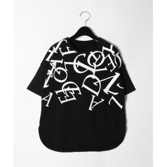 【オンワード】 GRACE CONTINENTAL(グレースコンチネンタル) レタード裏毛Tシャツ ブラック 36 レディース