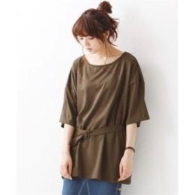 ベルト付プルオーバー【JINTY】 (大きいサイズレディース)Tシャツ・カットソー