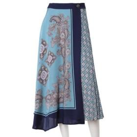 INED L / イネド(エルサイズ) 《大きいサイズ》スカーフデザインラップスカート