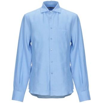 《期間限定セール開催中!》ERMANNO SCERVINO メンズ シャツ アジュールブルー 54 麻 100%