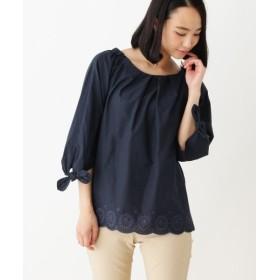 シューラルー 裾刺繍シャツ レディース ネイビー(093) 03(L) 【SHOO・LA・RUE】