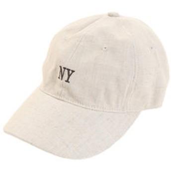 【Super Sports XEBIO & mall店:帽子】リネン刺繍 NY キャップ 897PA9ST1680 BEG