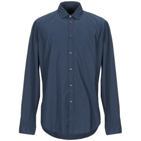 《期間限定セール開催中!》BRIAN DALES メンズ シャツ ダークブルー 43 コットン 100%