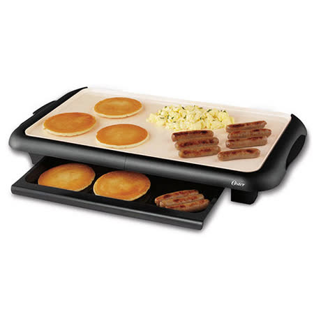 "10"" x 18"" 大尺寸烤盤 DuraCeramic™專利不沾黏塗層處理,使用更安心 可拆卸的溫度控制盤 貼心隔熱把手設計 獨創保溫托盤"
