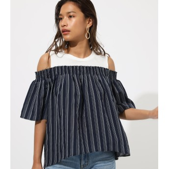 カットソー - AZUL BY MOUSSY OFF SHOULDER DOCKING TOPS